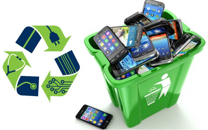 Collecting e-waste!